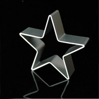 ingrosso forme di cookie-Wholesale- Star Shaped Aluminium Mold Sugarcraft Biscuit Cookie Cake Pastry Taglierina di cottura Strumento di stampo Strumenti di pasticceria Strumenti di cottura per dolci