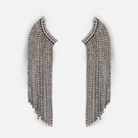 серьги заявление кисточкой оптовых-JUST FEEL Boho Trendy Crystal Metal Tassel Drop Earrings for Women Statement Vintage Dangle Earring Wedding Gifts Jewelry 2019