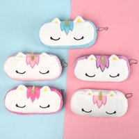 Wholesale kawaii makeup pouch for sale - Group buy Cute Unicorn Plush Cosmetic Bag Case For Women Travel Organizer Necessary Beauty Case Makeup Pouch Gift Designs Kawaii CM