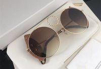 Wholesale pairs sunglasses resale online - 148SL Luxury Women Designer Sunglasses Metal Big Round Frame Glasses Detachable lens design Comes with a pair of lens UV400 protection