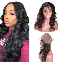 Wholesale unprocessed virgin hair three part closure resale online - Body Wave Frontal Closure Unprocessed Virgin Human Hair Peruvian Body Wave Lace Frontal Closure With Baby Hair x2x4