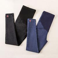 maternidade roupas jeans venda por atacado-Denim Jeans Calças de Maternidade Para Mulheres Grávidas Roupas de Enfermagem Leggings Gravidez Calças Gravidas Jeans Roupas de Maternidade