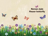 Wholesale butterfly flowers wallpaper stickers resale online - Waterproof Wall Sticker Removable Butterflies Grass Flower Decals For Home Children Room Nursery Decoration Wallpaper Hot Slae zy BB