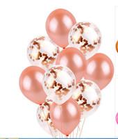 requisiten foto-stand design hochzeit großhandel-MAGGIEISAMAZING Wholesa 12 Zoll Latex Pailletten gefüllt klar Luftballons Neuheit Kinder Spielzeug Naturlatex Ballon Hochzeitsdekorationen