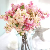 Wholesale japanese blossom tree for sale - Group buy 52 cm Japanese Sakura Artificial Flower Cherry Blossom Vivid Bouquet Fake Flowers Wishing Tree Wedding Home Party Decoration