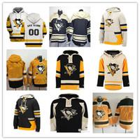 sidney crosby sudadera con capucha al por mayor-2019 Hombres Pittsburgh Penguins Sudaderas con capucha Sidney Crosby Kris Letang Jake Guentzel Evgeni Malkin Patric Hornqvist Kessel Lemieux Jersey