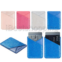 leinwand dünn großhandel-Bunter ultra-dünner selbstklebender Kreditkarten-Geldbörsen-Karten-Satz-Karten-Segeltuch-Halter für Smartphones für iPhone X XS maximales Xr