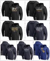 jersey patriota negro al por mayor-New Orlans Saints Los Angles Rams Nueva Englad Patriots Pro Line por Fanatics Branded 2018 Playoffs Bound Ciudad natal Jersey con capucha Negro