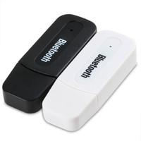 kit carro portátil auto falante venda por atacado-Mini Universal 3.5mm AUX Bluetooth Car Kit Adaptador Receptor de Música De Áudio Sem Fio Dongle Dongle para Tablet Telefone PC Speaker PortátilFree envio