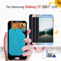 samsung galaxy amoled venda por atacado-AMOLED / TFT LCD para samsung galaxy j7 pro 2017 j730 sm-j730f j730fm / ds j730f / ds j730gm / ds display touch screen digitador assembléia