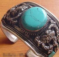 tibet silber drachen armband großhandel-Armband Tibet Silver Dragon Band Armband