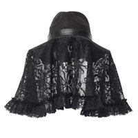 Wholesale black lace hat for sale - Group buy Rosetic Anti Fog Gothic Party Halloween Women Hat Cosplay Accessories Caps Gothic Hats Protective Black Hat Lace Cover Lace Up