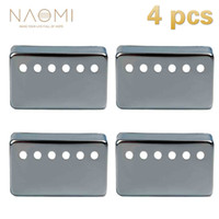NAOMI 4 PCS Metal Humbucker Pickup Cover 50mm For LP Style Electric Guitar Parts & Accessories Sliver Color New