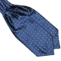 Wholesale handkerchief ascot resale online - Hot Polka Dot Men Long Silk Scarves Cravat Ascot Ties Handkerchief Gentlemen