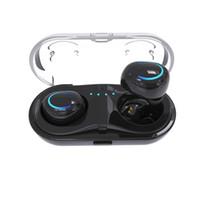 Wholesale headphones canceling noises resale online - HBQ Q18 TWS MINI wireless headphones bluetooth noise canceling earphones phone earbuds headset with microphone Charging Case