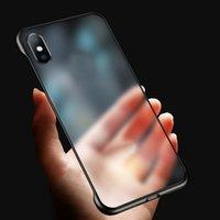ingrosso casi di mamma huawei-Custodia senza cornice ultra sottile per iPhone 11 pro max per iphone 6 7 8 Plus XS Max custodia huawei mate 20 p30 pro trasparente opaca