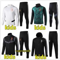 ingrosso felpa con cappuccio-19 20 Kids tuta da calcio giacca con cappuccio giacca 2019 2020 bambini giacche da calcio tuta da allenamento jogging