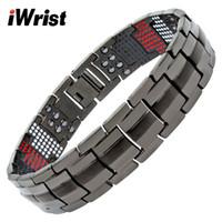 Wholesale chains germanium resale online - iWrist Fashion Magnetic Pure Titanium Men s Bracelet In Negative Ion Far Infrared Germanium Bracelet For Pain Relief