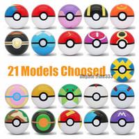 elf modeli toptan satış-21 Modelleri Pokemons ELF Topu Oyuncaklar Master Ball GS / Ay / Park / Lüks / Spor / Zamanlayıcı / Aşk Topu