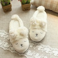 Wholesale bedroom slippers women for sale - Group buy New Cute Sheep Animal Cartoon Fashion NEW Home Women Winter Slippers Indoor Bedroom Cotton Female Shoes Soft Bottom Flats shoes