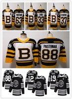 jersey de invierno bruins al por mayor-2018 Mens Winter Classic Hockey Chicago Bruins Toews DeBrincat Patrick Kane Crawford Pastrnak Bergeron Jerseys