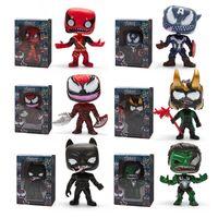 figuras de veneno venda por atacado-Funko pop Venom Figura Boneca brinquedos 2019 New kids Vingadores Venom Dos Desenhos Animados figura Toy Figuras Do Filme