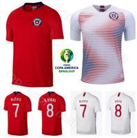 camiseta de fútbol sanchez al por mayor-2019 Copa América Fútbol Chile Jersey 7 ALEXIS SANCHEZ 8 ARTURO VIDAL 11 EDUARDO VARGAS 17 GARY MEDEL CHARLES ARANGUIZ Kits de camisetas de fútbol