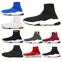 Wholesale wave socks online – funny With box new Luxury Designer fashion Men Wave Runner Women Casual sneakers socks men chaussures scarpe zapatos hommes femmes Speed Trainer
