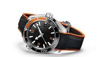 gezegen okyanus otomatik mekanik saatler toptan satış-Ücretsiz Kargo Lüks 45mm Planet Ocean Eş Eksenli 600M 215.32.44.21.01.001 Otomatik Mekanik Erkek Erkek İzle Kol saatı