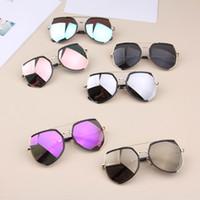 çerçeveler çocuklar toptan satış-Moda Güneş Gözlüğü Shades Google Trendy Erkek Kız Tasarımcı Güneş Gözlüğü Çocuk UV400 Güneş Gözlüğü Gençler Moda Çerçeve Çocuk Gözlük
