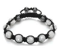 neue disco ball armbänder großhandel-Freies Verschiffen! 10mm weiße neue Art-Disco-Kugel-Perlenkindarmband. NEUE fasion Armbänder p2432