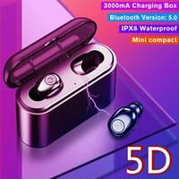mp3 ipx7 оптовых-Bluetooth 5.0 Гарнитура TWS Беспроводные Наушники Мини Наушники Стерео Наушники IPX7