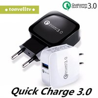 Wholesale rapid fast charger online – Quick Charging EU US Plug QC Wall Charger V V V W For Smartphone Qualcomm QC3 Fast Rapid Home Adapter