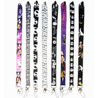 Wholesale cell phone neck chain lanyard resale online - Cartoon The Nightmare Before Christmas Neck Lanyard for MP3 Cell Phone ID Card Key Chain Straps Black Fashion