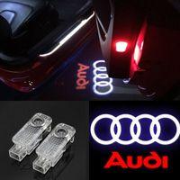 ingrosso loghi del laser a porta porta-2x luci per auto LED logo luce del proiettore laser luci dell'ombra fantasma lampada di benvenuto installazione facile per Audi A1 A3 A4 A5 A6 A7 A8 Q3 Q7 R8 RS TT S
