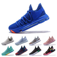 tênis de basquete bhm venda por atacado-Atacado KD 10 Kevin Durant homens tênis de basquete Oreo BHM Branca números pretos aniversário do estuque Igloo Multi Color 10 X Sports Sneaker