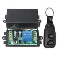 funkfernbedienung schalter wasserdicht großhandel-DC 12 V 10A 1Ch Wireless Remote Control Switch System Empfänger Sender 2 Tasten Wasserdichte Fernbedienung 433 Mhz