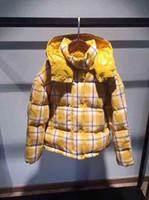 Wholesale cute women color wool coats resale online - 2019 Brand M Callle Women Fashion Lattice Cotton wool Women Duck Down Coats With Hooded Lady Shorts Coat Cute doll Jackets For Women M Siz