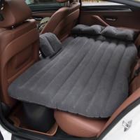 ingrosso set di copri sedili marrone-Sedile posteriore dell'automobile inflazione Car Cover materasso di aria esterna Lettino da viaggio materasso gonfiabile della base di aria con la pompa per tutti Sedan