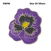 Wholesale flower brooches for sale - Group buy Purpie Poppy Flower Lapel Pin Flag Badge Lapel Pins Badges Brooch XY0504