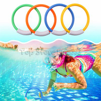 Wholesale treasures toys online - Diving Game Toys Set Diving Rings Torpedo Treasures Dive Underwater Swimming Toy Training Gift for Kids Summer Fun