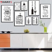 Wholesale modern wine abstract art canvas for sale - Group buy Wine Life Quotes Poster Prints Modular Wall Picture Kitchen Modern Home Decor Canvas Painting Wall Art Murals Still life Photos