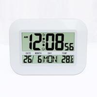 alarme de data venda por atacado-Simples Digital LCD Relógio de Parede Relógio de Mesa Com Alarme Snooze Temperatura Calendário Data de Hora Dia da semana para uso doméstico ZJ0378