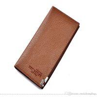Wholesale multi coins slot online - Nice New Wholetide Men Wallet Purses Handbag Genuine Leather Multi Colors Coin Purse Brand Name Purse