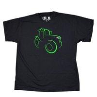 современные футболки оптовых-Трактор эскиз современного дизайна футболка мужская футболка