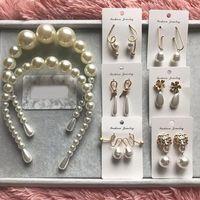 Wholesale fashion bijoux online - Best lady New Fashion Simulated Pearls Drop Dangle Earrings for Women White Wedding Party Statement Jewelry Earrings Bijoux