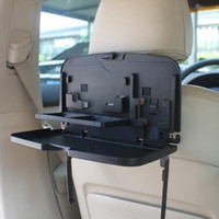 Wholesale car travel tray resale online - Car Auto Back Seat Folding Table Drink Food Cup Tray Holder Stand Desk Multi purpose Travel Dining Tray