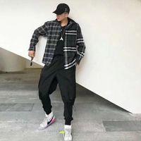 ingrosso uomini in giacca di inverno plaid-18FW Gosha Rubchinskiy Lattice Shirt Jacket Luxury Uomo Donna Casual Coat Autunno Inverno Street Outdoor Hip Hop Camicie Capispalla HFLSCS016