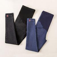 Wholesale maternity winter clothes trousers resale online - Denim Pants For Pregnant Women Clothes Nursing Pregnancy Leggings Trousers Gravidas Jeans Maternity Clothing Q190530