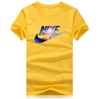 высокое качество tshirt оптовых-Оптовая Летняя Уличная одежда Европа Мода Мужчины женщины с коротким рукавом Высокого Качества Хлопка 3D печать Футболка Повседневная Женщины Футболка S-5XL